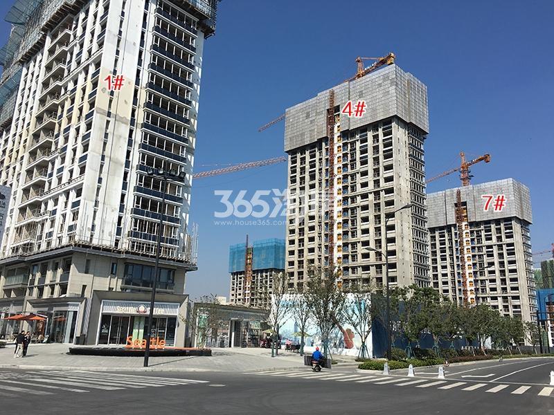 万科融信西雅图1、4、7号楼实景图(2017.10)