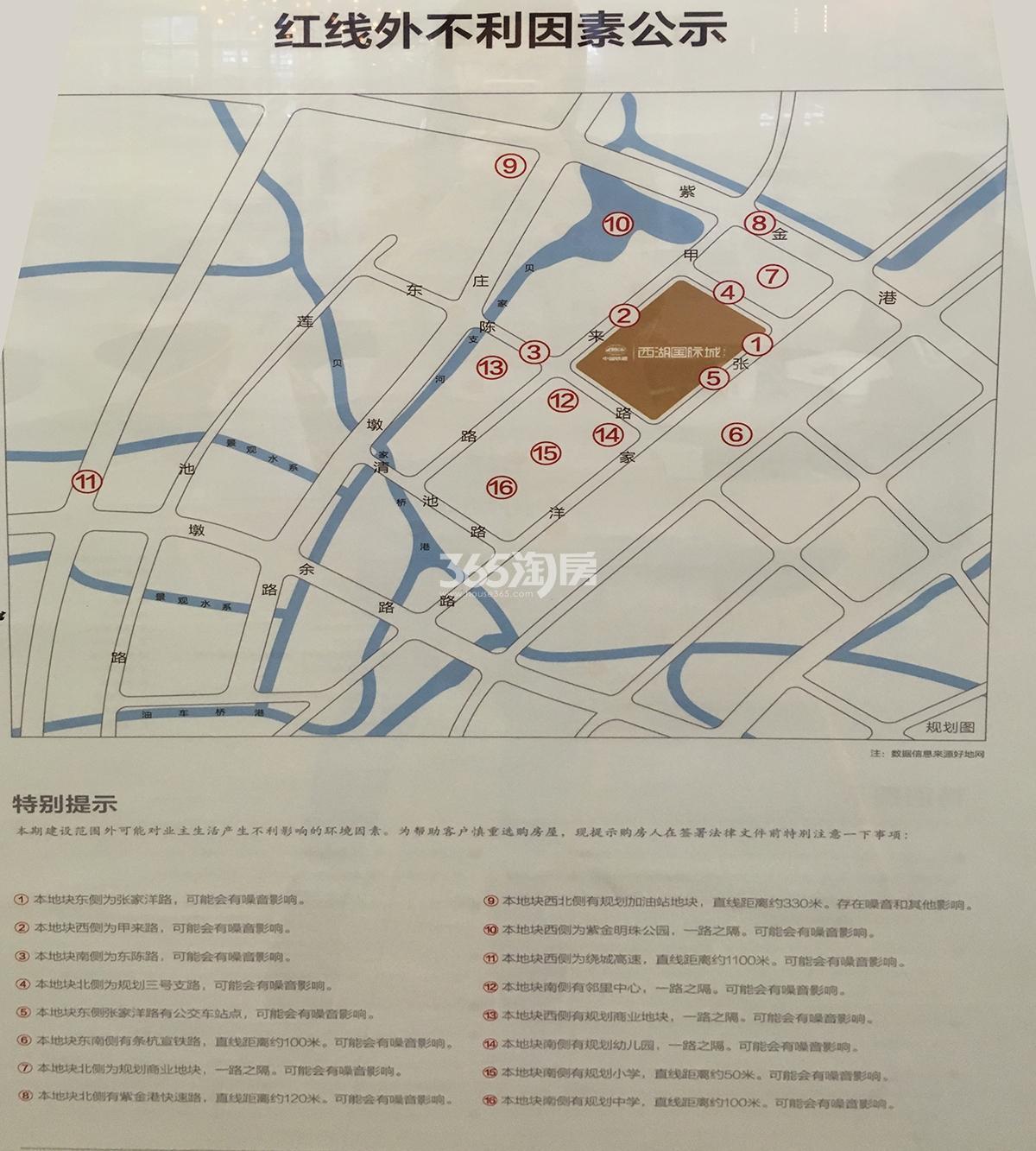 中国铁建西湖国际城不利因素公示