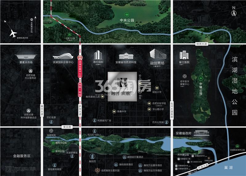 融创滨湖印交通图
