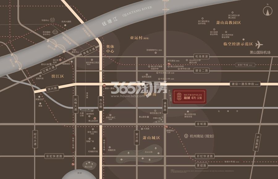 新城璟隽公馆交通图