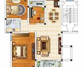 雨花石文化园3室2厅1卫104.3㎡整租毛坯