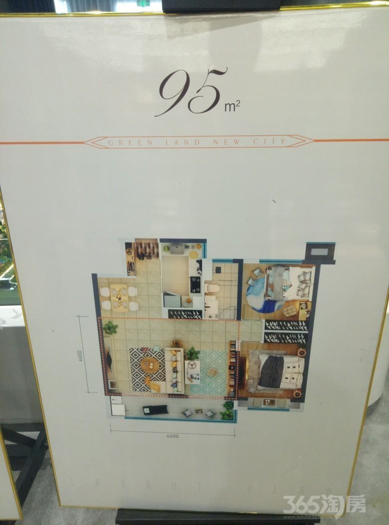 绿地新里城3室2厅2卫120平米1年产权房精装