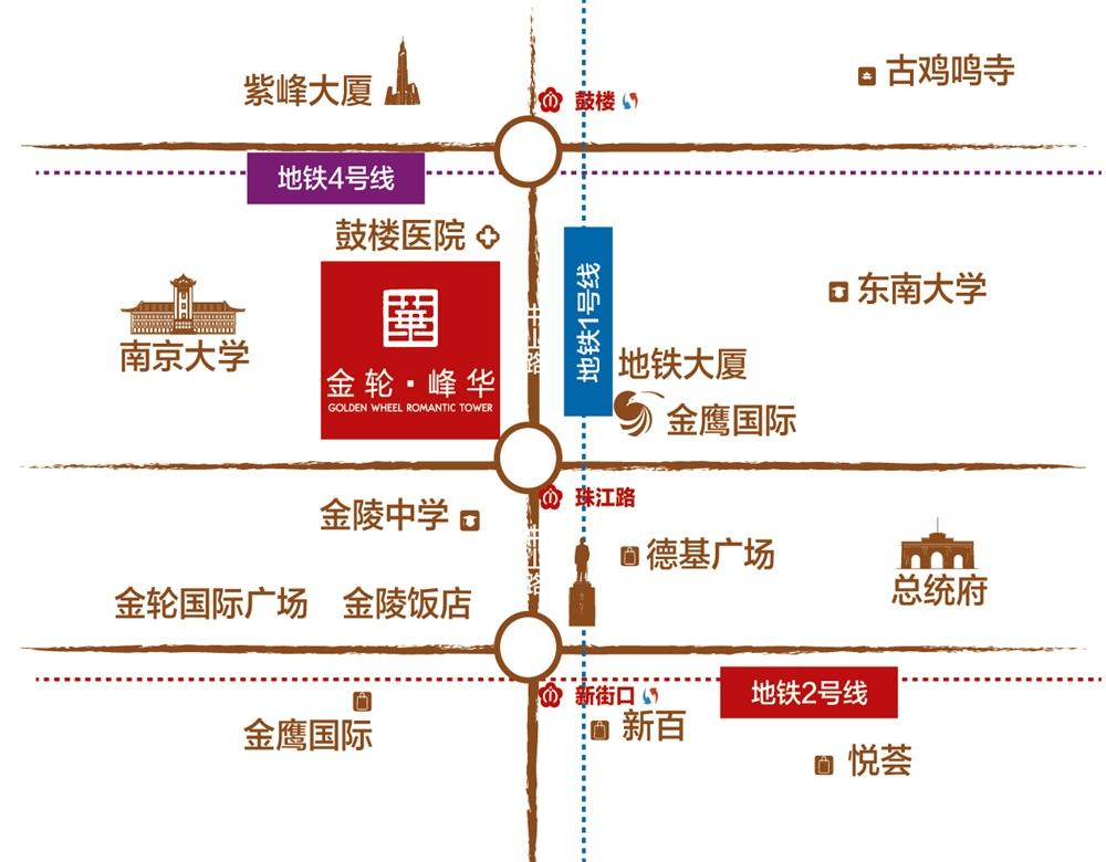 金轮峰华交通图