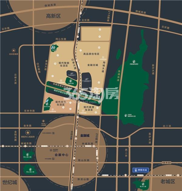 中天金融城国际社区交通图