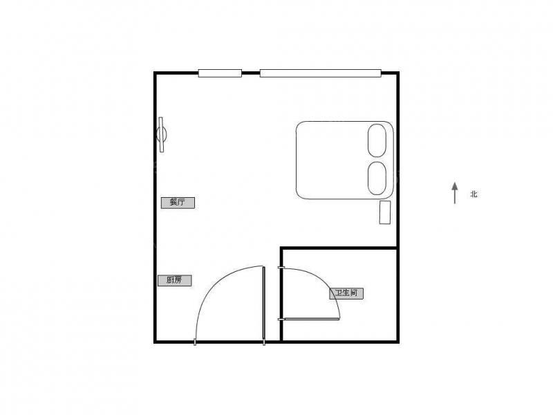 江宁区南京南站水岸明珠1室1厅户型图