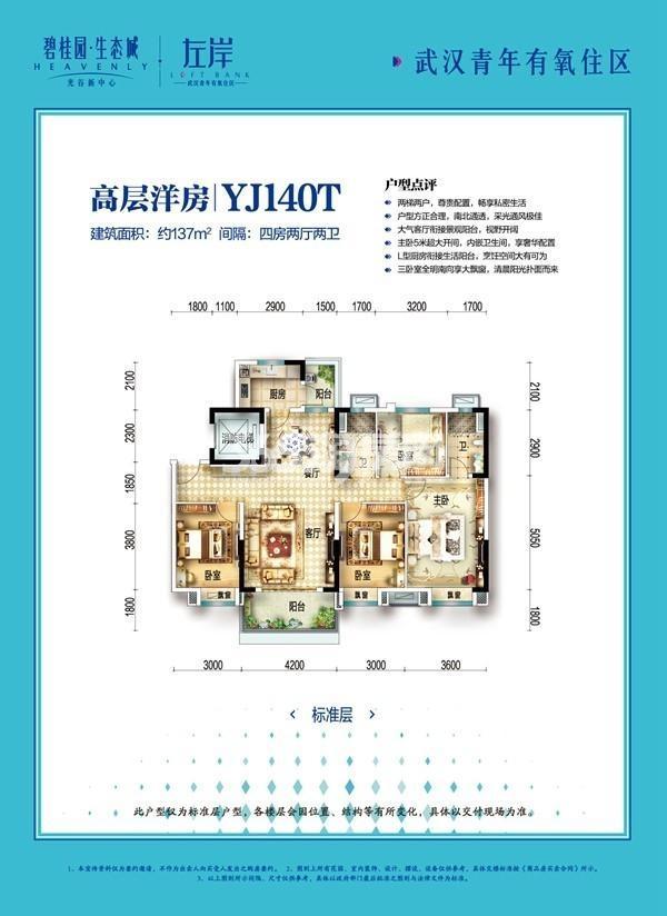 碧桂园生态城YJ140T户型图