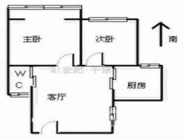 清荷园2室1厅1卫66平米简装产权房2013年建