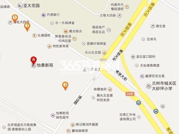怡景新苑二期交通图