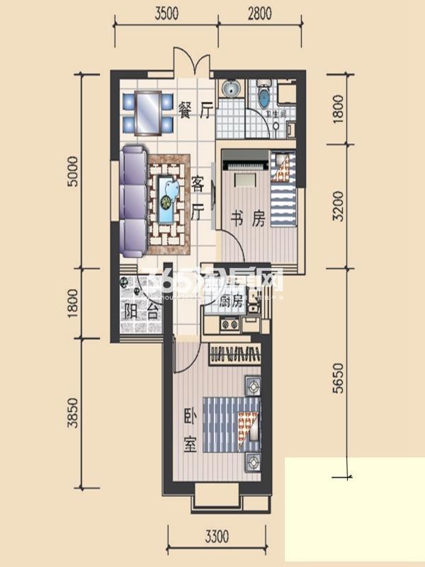 众邦金水湾2号院户型图
