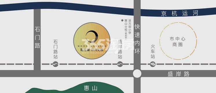 阳光城印月文澜交通图