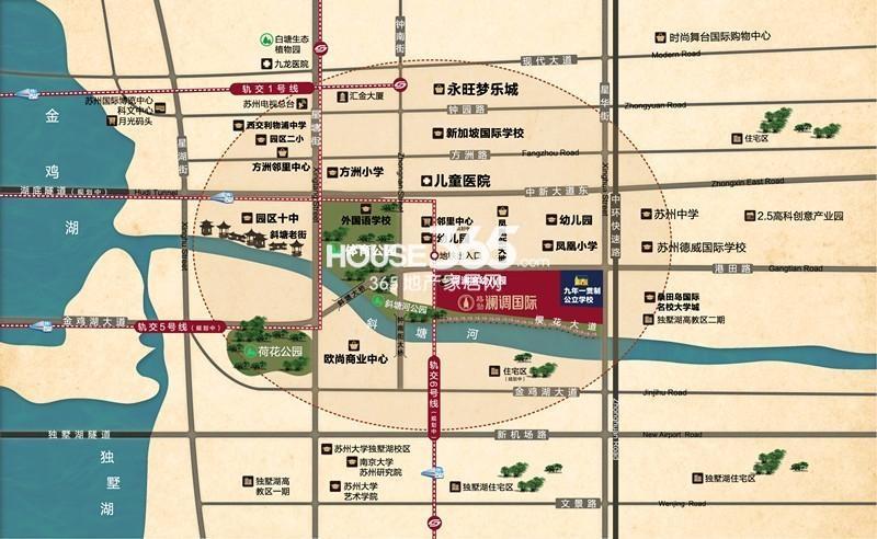 澜调国际交通图
