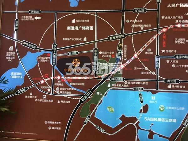 中海熙岸华府交通图