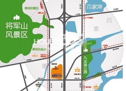 翠屏湾花园城二期E53公馆交通图