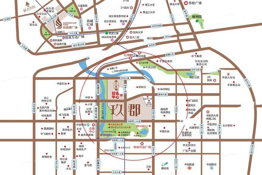凯盛源·玖郡交通图