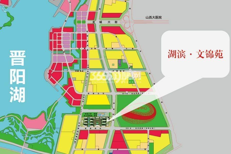 湖滨·文锦苑交通图