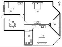 三山街口地铁口 弓箭坊高层有电梯 全明两房好户型 满两年