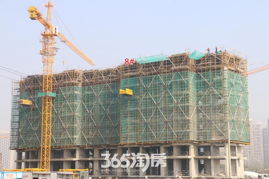信德悦城8#楼最新工程进度图(2018.3摄)