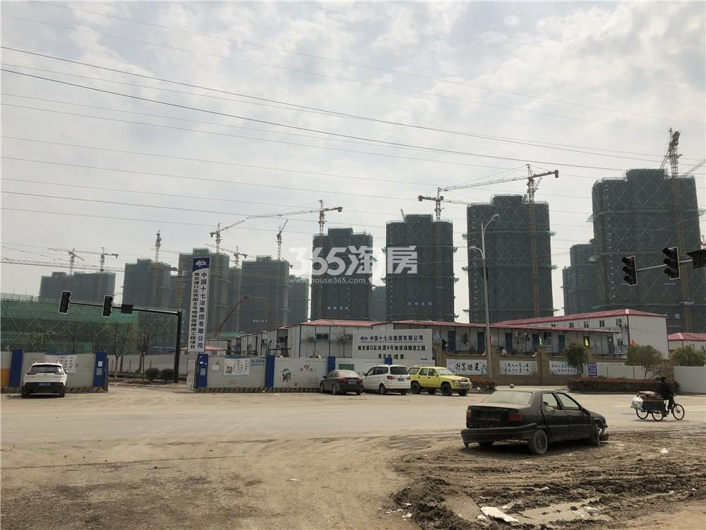 五矿江浦G25地块工地周边实景图(3.25)