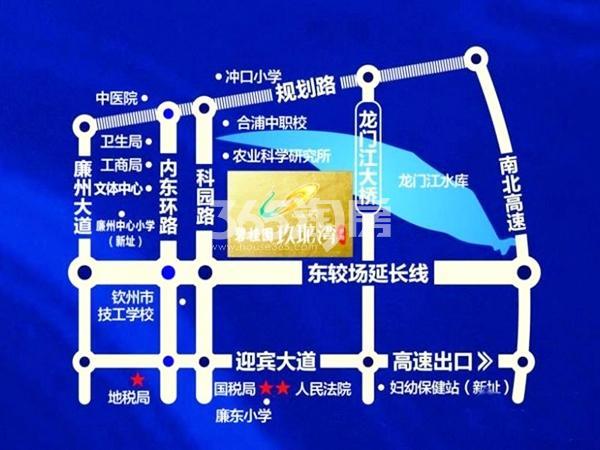 合浦碧桂园玖珑湾交通图
