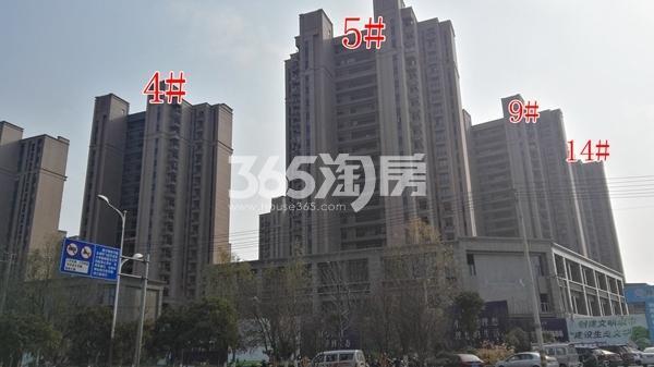 恒大滨河左岸一期4、5、、9、14#楼实景(12.14)