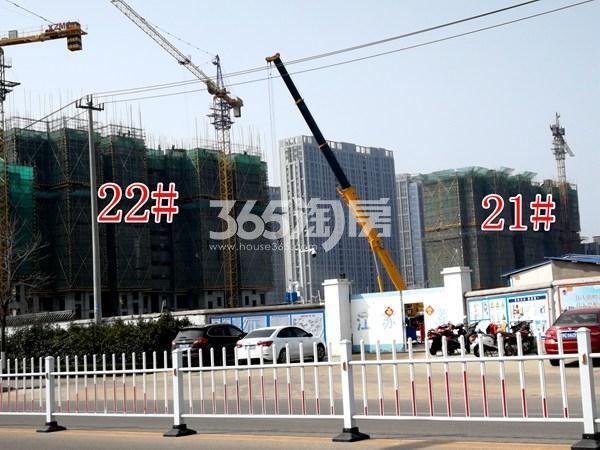 城置万锦城22#、21#工地实景图(3.27)