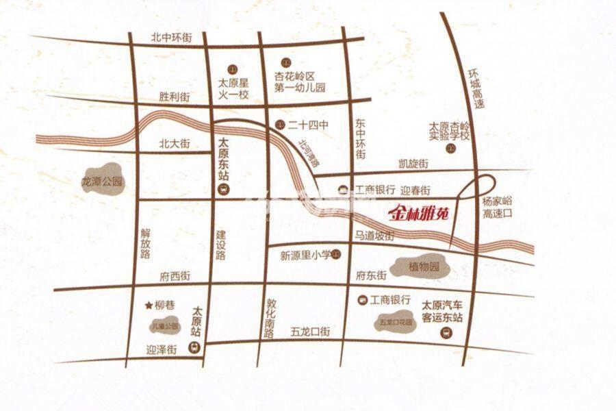 金林雅苑交通图