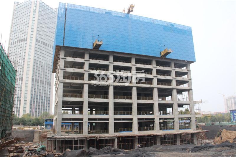 2#楼珑寓 主体结构已修建至10层