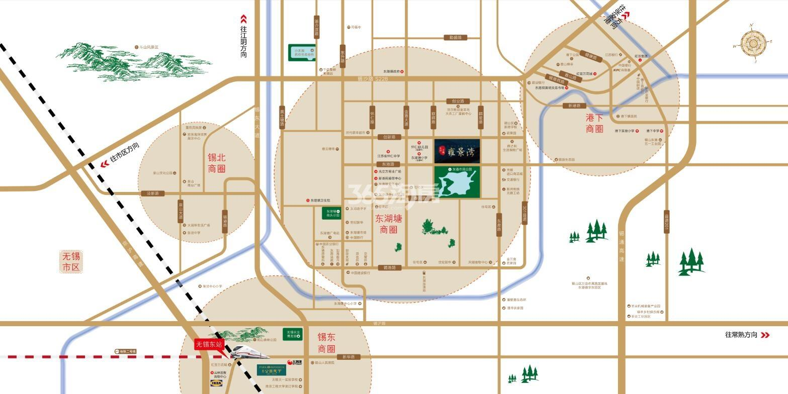 美的·中骏雍景湾交通图