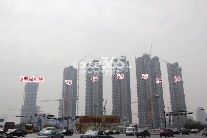 理想银泰城项目整体施工进程图(2015.10)