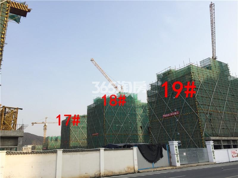绿地理想城悦湖公馆在建17、18、19#楼实景图(2.18)