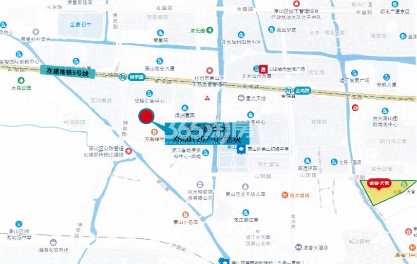 滨江博语华庭交通图