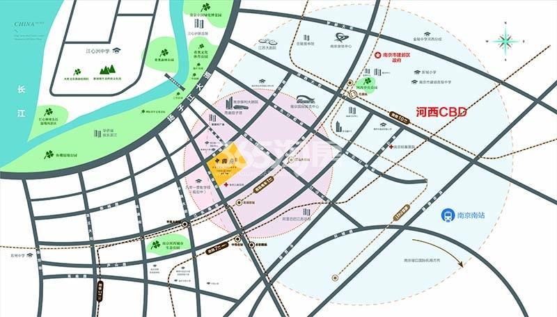 葛洲坝南京中国府交通图