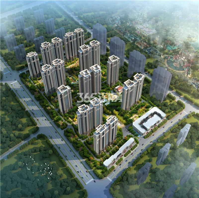 西安恒大文化旅游城鸟瞰图