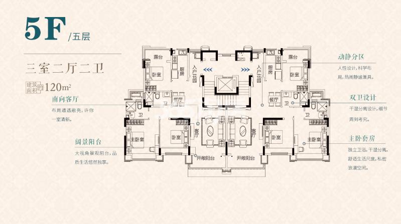 S3五层120㎡户型