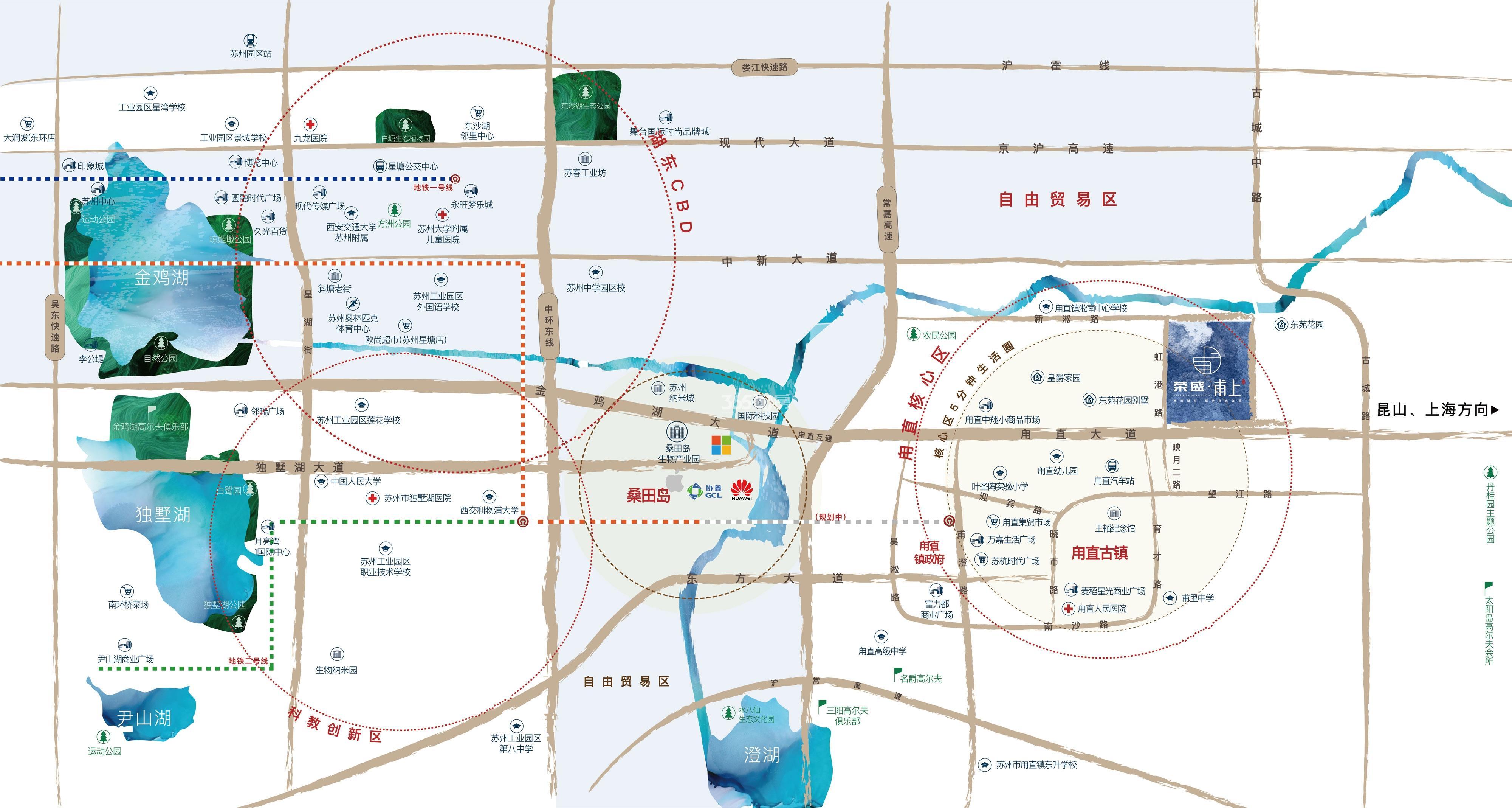 荣盛·甫上交通图