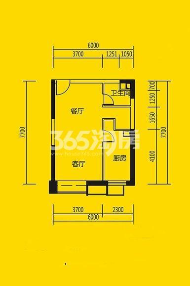 恒大都市广场公寓11#、10#楼1室1厅1卫1厨62平