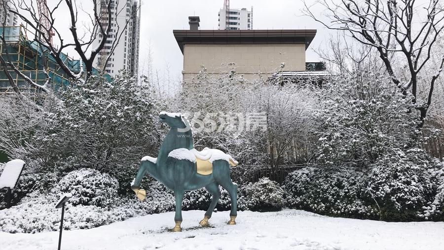 新城香悦公馆示范区雪景图 2018年1月摄
