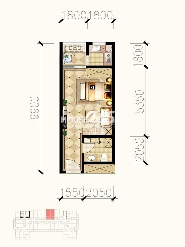 九锦1号b2户型图