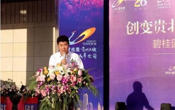 碧桂园集团贵州区域常务副总裁谯石