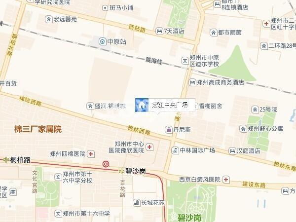 宏江中央广场交通图