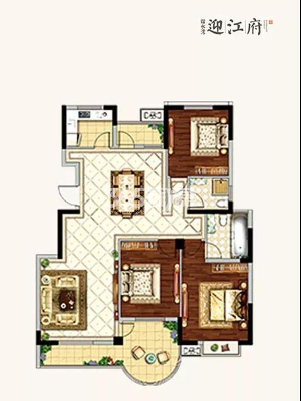 3室2厅2卫  128㎡