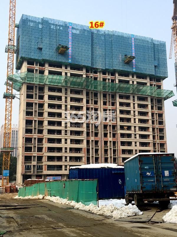 银城东樾府16#楼工程进度实景图(2018.1摄)