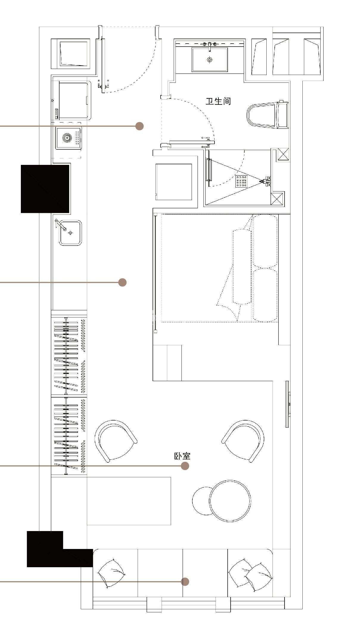 绿地·观澜湾公寓约55平B户型