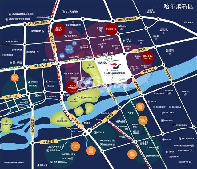 绿地·东北亚国博城交通图