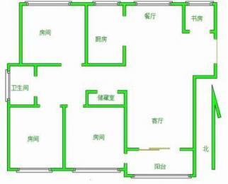 滨湖区太湖国际社区3室2厅1卫122㎡