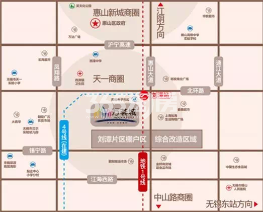万荟城交通图