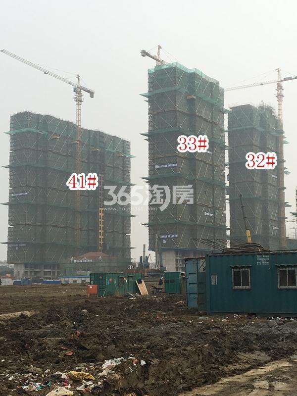 恒大观澜府高层32#、33#、41#楼实景图(2018.2 摄)