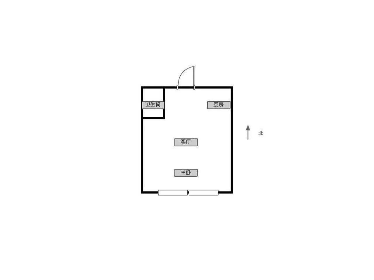 浦口区高新易创园1室1厅户型图