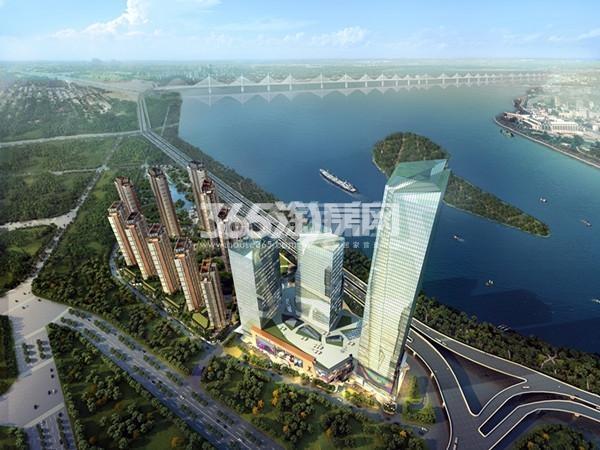 富力江湾新城鸟瞰图