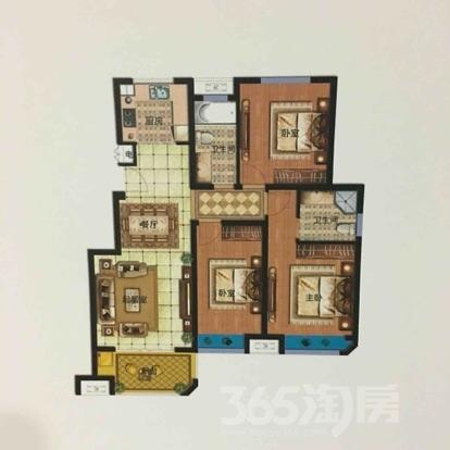 明发香山郡3室2厅2卫114平米毛坯产权房2015年建